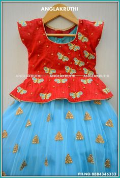 Kids frock designs by Angalakruthi boutique Bangalore Party wear kids designs Long Frocks For Kids, Skirts For Kids, Frocks For Girls, Dresses Kids Girl, Baby Dresses, Girls Frock Design, Kids Frocks Design, Baby Frocks Designs, Kids Lehanga Design