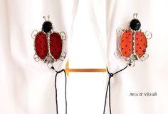 Embrasses vitrail embrasses aimantées coccinelle par ArtsVitrail
