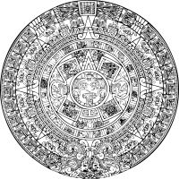 [Aztec calendar] Potentially use the Aztec Thirteen Heavens as inspiration for god powers. (keepscases, 2009)