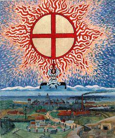 Carl Gustav Jung, Illustration for the Red Book (Liber Novus), Carl Jung, Psychedelic Art, Gustav Jung, Gustav Klimt, Religion, Sacred Geometry Art, Psy Art, Spiritus, Red Books