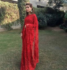 """pretty-little-weddings: """"Noor Mannoo in a Faraz Manan sari from the VICEROY collection """""""