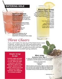 Signature drinks to celebrate the Triple Crown races!