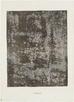 Jean Dubuffet. Decrepitude (Décrépitude) from the portfolio Anarchitect (L'Anarchitecte) from Phenomena (Les Phénomènes). 1959