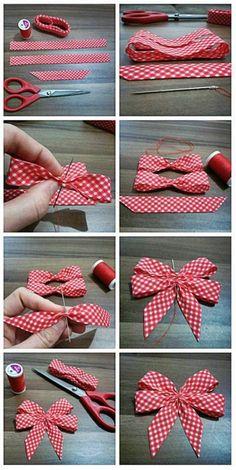 Shabby Chic Deko selber machen: Inspirierende Ideen und praktische Tipps - - New Ideas Ribbon Art, Diy Ribbon, Ribbon Crafts, Ribbon Bows, Ribbons, Bow From Ribbon, Ribbon Bow Tutorial, Hair Bow Tutorial, Ribbon Flower