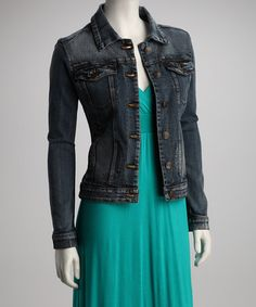 Take a look at this Blue Denim Jacket by Dollhouse ...I love pairing jean jackets over maxi dresses!!!