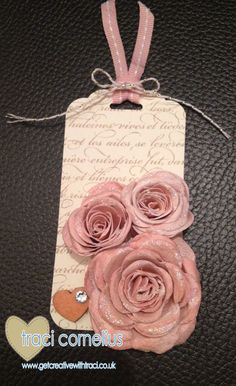 Stampin Up vintage roses tag by Independent Stampin Up Demonstrator Traci Cornelius