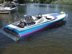 Vintage V-drive Flat Bottom Ski Boat Fast Boats, Cool Boats, Speed Boats, Power Boats, High Performance Boat, Boat Wallpaper, Flat Bottom Boats, Ski Boats, Vintage Boats