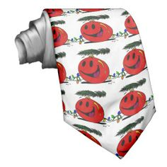 Happy Ornament Necktie Perfect for your special guy, or gal if she's into wearing ties {:-)