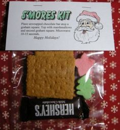 S'mores kit.  These turn out so cute!  Our grandkids had a great time putting these together for their friends last year.