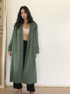 Burberry wool trench coat, Olive | size 06 Wool Trench Coat, Duster Coat, Burberry, Im Not Perfect, My Style, Jackets, Vintage, Winter, Fashion