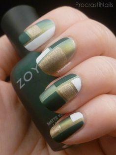 ProcrastiNails: The 31 Day Challenge 2014 - Day Green Colour Blocking/Dorothy Johnson Green Nail Designs, Square Nail Designs, Nail Art Designs, Cute Nails, Pretty Nails, Heavenly Nails, Tumblr Nail Art, Color Block Nails, Tape Nail Art