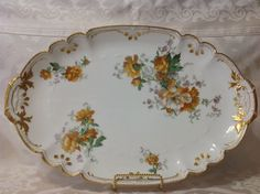 1890-1910 Ant Limoges France by AK/CD Beautiful Lg Oval Serving Platter; Perfect #LimogesFrance
