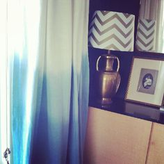 MODERNHAUS: TUTORIAL: Indigo Ombre Dip-Dye Fabric and Curtains