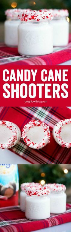 A taste of the holidays in each shot! These Candy Cane Shooters are delicious and can be made with or without alcohol!