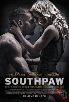 New trailer and posters for Antoine Fuqua's boxing drama SOUTHPAW starring Jake Gyllenhaal, Forest Whitaker and Rachel McAdams. 2015 Movies, Hd Movies, Movies To Watch, Movies Online, Movies Free, Latest Movies, Action Movies, Jake Gyllenhaal, Rachel Mcadams