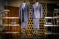 Brooks Brothers window, Regent Street London On the right: Regent Fit Plaid 1818 Suit Carnaby Street, Red Wing Shoes, Brooks Brothers, Tommy Hilfiger, Suit Jacket, Window, Plaid, Mens Fashion, Suits