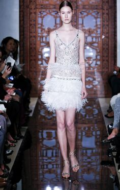 Reem Acra flapper style wedding dress