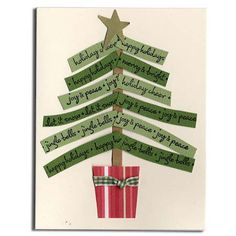 Christmas Greetings Tree Card