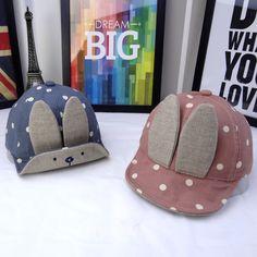Cute 2017 Fashion New Rabbit ears Baby Hat Lovely Baseball Cap For Boy Girl Sun Hat Dot Kid Hats Caps For Children Accessories