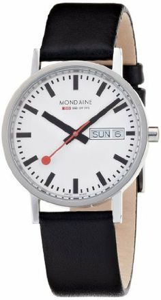 Exceptional Mondaine Men's A667.30314.11SBB Classic Gents Day-Date Leather Band Watch from MONDAINE