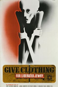 Give Clothing For Liberated Jewry poster by Abram Games