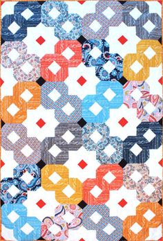 Download Free Pattern Infinity Quilt by Michael Miller Fabrics. Free Sewing and quilting patterns, tips and more at the FabShop Hop!