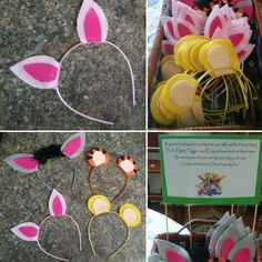 Instead of party hats for a birthday party, use Winnie the Pooh ears!