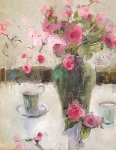 Chinoiserie by Janette Jones Oil ~ 24 x 20