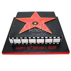 hollywood cake | View Full Size | More hollywood theme birthday cake |