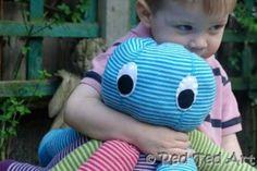 Upcycle old Tights into this virtually no sew Octopus plush toy