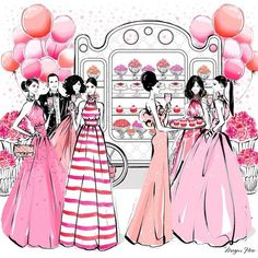 Megan Hess bday party pink chic style