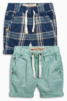 Buy Blue/Green Pull On Shorts Two Pack (3mths-6yrs) online today at Next: Hungary