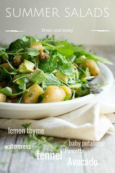 Fresh ripe avocado and potato salad with fennel and crispy Pancetta | Foodness Gracious