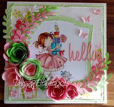 card stempel flowers Joy Craft