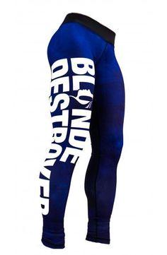 Blonde Destroyer Women s fitness leggings/ gym tights /sport pants size M Blue