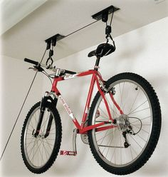 Awesome Hanging Style Bike Storage Ideas With Rope Modern Design Home Interior Creative Saving Space Decor