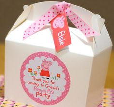 Personalised Childrens PEPPA PIG Birthday Party Bag Box Activity Stationary