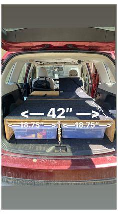 Suv Camper, Minivan Camper Conversion, Camper Beds, Mini Camper, Camper Van, Minivan Camping, Jeep Camping, Diy Camping, Suv Camping Tent