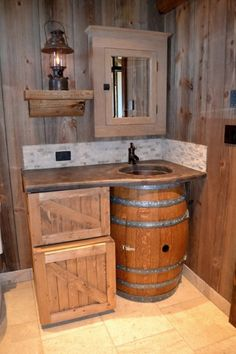 Wine Barrel Furniture - Planters, Trash Cans, Lazy Susans, Sinks, Tables, Chairs and More