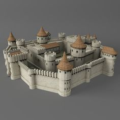 Medieval Castle Model available on Turbo Squid, the world's leading provider of digital models for visualization, films, television, and games. Minecraft Castle, Minecraft Medieval, Medieval Houses, Medieval Castle, Castle Silhouette, Wooden Castle, Model House Plan, Gundam Art, Minecraft Designs