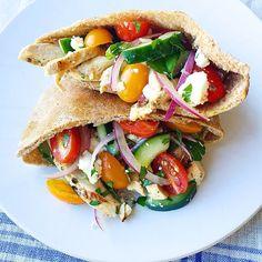 Greek Salad Pita Pockets with Grilled ChickenDelish