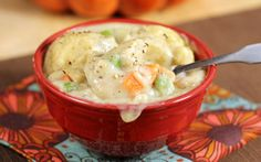 30-Minute Chicken and Dumplings from @Donna | The Slow Roasted Italian