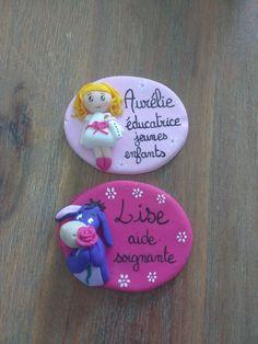 Réservé deux badges soignants en fimo : Pins, badges par estelle-badge-fimo