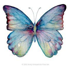 No43 Celestina Butterfly Signed Fine Art Print of by AmyKFineArt