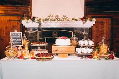 Beautiful deserts and wedding cake at The Log Cabin in San Francisco By JBJ Pictures Wedding Photographer in San Francisco, San Mateo, Sonoma and Napa Valley.