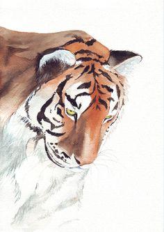 Aquarell - Tiger Malerei-Animal Print Drucken 5 von 7