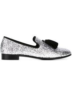 dbe0277fa7e4e Giuseppe Zanotti Design | 'Kevin' Loafers | Tassel Silver Glitter Giuseppe  Zanotti Heels,