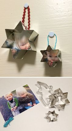 Valokuvakehykset piparkakkumuoteista. lasten | askartelu | joulu | käsityöt | koti | sisustus | DIY ideas | kid crafts | christmas | home | decor | Pikku Kakkonen