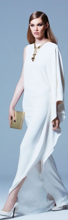 Streamlined and sleek, our editors love this Elie Saab Ready-To-Wear Pre Fall 2013 dress for a summer wedding look