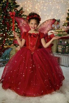 Love Background!!! Red Holiday Ball Gown Princess Party Dress by EllaDynae on Etsy $290+